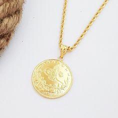 On Çeyrek Altınlı Halat Zincirli Kolye Gold Necklace, Jewelry, Fashion, Gold, Jewerly, Moda, Gold Pendant Necklace, Jewlery, Fashion Styles
