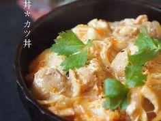ウチの黄金比♪卵丼*親子丼*カツ丼の画像 Japanese Bowls, Japanese Food, Okonomiyaki Recipe, Asian Recipes, Ethnic Recipes, Mashed Potatoes, Macaroni And Cheese, Curry, Meat