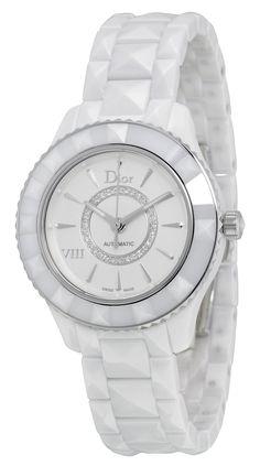 Christian Dior VIII White Diamond-set Dial White Ceramic Ladies Watch…