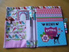 Kaatje Kip blog - hoesje voor een notitieblokje / cover for a notebook
