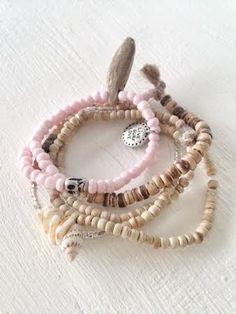 Image of Pink & Wood Bracelet