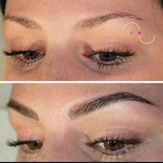Microblading Eyebrows : Illustration Description Eyebrow tattoo by Jette Scherzer. Permanent Makeup Eyebrows, Eyebrows On Fleek, Perfect Eyebrows, Eyebrow Makeup, Tattooed Eyebrows, Eye Brows, Eyebrow Wax, Eyeliner, Good Eyebrows