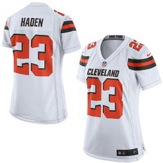 3e7049b49 ... Nike Browns Joe Haden White Womens Stitched NFL New Elite Jersey And  Jason Witten 82 jersey Mens ...