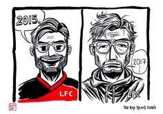 The Kop Sport Comic :5-10-2017 : black ink drawing Illustration #Liverpool #TheKopArtsStudio #liverpoolfc #football #thisisanfield #lfc