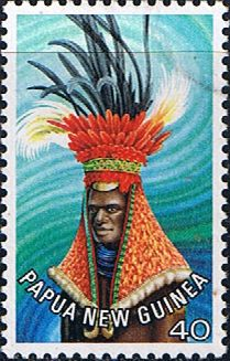 Papua New Guinea 1977 Waghi Man Headgear SG 326 Scott 454 Fine Mint Other Papua New Guinea Stamps HERE!