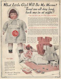 1920's Needlecraft Magazine Baby Doll Promotion Ad by captainpandapants, via Flickr