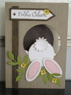Easter cards with Stampin`UP! - Easter cards with Stampin`UP! – – Adriana Bachschmidt Easter cards with Stampin`UP! – Easter cards with Stampin`UP! Diy Easter Cards, Easter Crafts, Easter Ideas, Handmade Easter Cards, Easter Recipes, Egg Recipes, Rabbit Origami, Stampin Up, Punch Art Cards