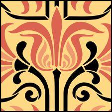 Art Nouveau Repeat Pattern Stencils