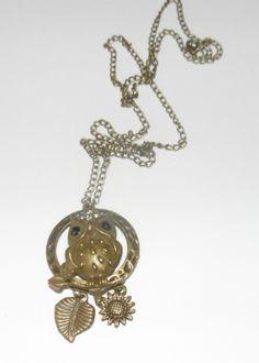 Collier en bronze avec sa chouette : Collier par fantaisyum-bijoux