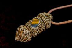 Bohemian spirit Prayer box necklace ethnic tribal pendant tiger eye gemstone jewelry Amulet Talisman