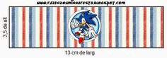Sonic: Etiquetas Candy Bar para Imprimir Gratis. Donald And Daisy Duck, Bar, Free Printables, Party Themes, Birthday Parties, Kids Rugs, Html, Sony, Template