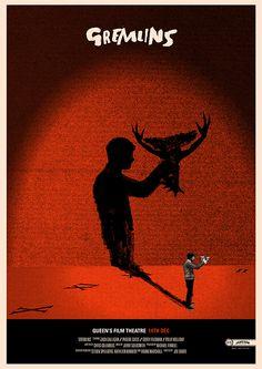 #PosterDesign   Gremlins por Peter Strain www.beewatcher.es