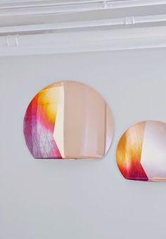 iridescent copper mirror    studio besau-marguerre
