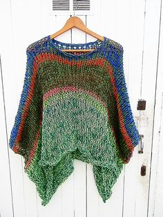 Knitted blouse tunic oversized sweater hand by armarioenruinas