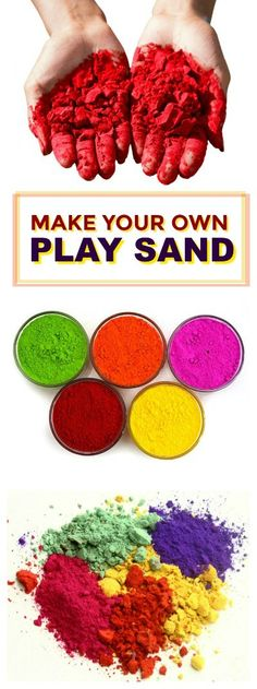 FUN KID PROJECT: Make your own play sand (A great activity for Summer)