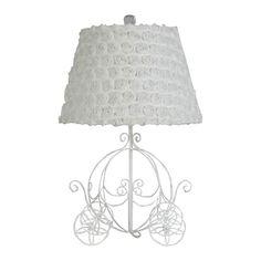 Fairy Tale Princess Carriage Table Lamp in White   Nebraska Furniture Mart