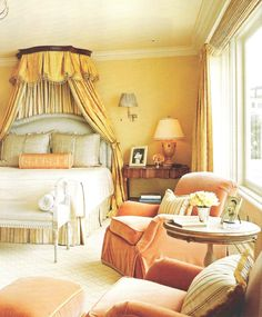 Kendall Wilkinson - great blend of antique and contemporary design - what a bright room!