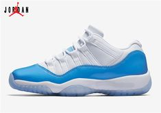 c1f681df387 2017 Men s Air Jordan 11 Retro Low Basketball Shoes White University Blue  528895-106