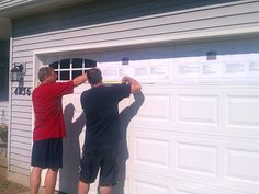 faux windows and hardware for garage doors (cheaper than a new door!)