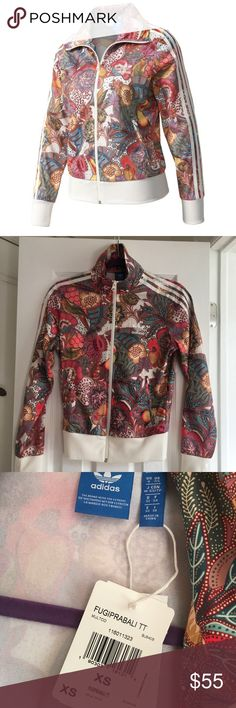 Adidas Woman Multicolor Track jacket size xs Adidas BJ8408 Fugiprabali Firebird Patterned Woman Multicolor Track Jacket size XS. New with tags! adidas Other