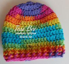OOAK Rainbow Baby Beanie Handmade Baby Hat Take Home Hat   Etsy Crochet Round, Hand Crochet, Dr Brown Bottles, Baby Beanie Hats, 2nd Baby, Rainbow Baby, Newborn Gifts, Handmade Baby, Knitted Hats