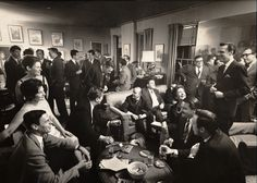 A typical party at George Plimpton's apartment.