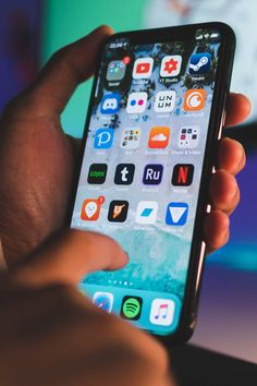 """If You Always Get the """"Storage Almost Full"""" Message on Your Phone, You Need to Read This Organize Phone Apps, Iphone Life Hacks, Apple Iphone, Iphone 3, Apple Smartphone, Internet Packages, Blue Wallpaper Iphone, Iphone App Layout, Cool Tech Gadgets"""