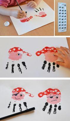 Les pirates font de la peinture à doigts ! | Mon anniversaire pirate