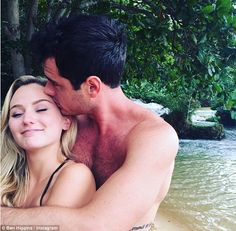 'Lucky to be by her side': Bachelor star Ben Higgins posted this sweet photo on Wednesday as he dismissed claims his relationship with Lauren Bushnell is on the verge of breaking up