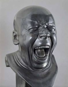 "Franz Xaver Messerschmidt, The Yawner, from 64 ""canonical grimaces"" of the human face, 1770-1783, Belvedere, Vienna"