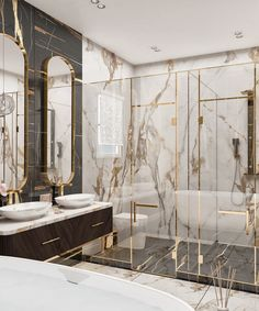 Master Bedroom on Behance Modern Luxury Bathroom, Bathroom Design Luxury, Bath Design, Washroom Design, Home Room Design, Dream Home Design, Modern House Design, Home Interior Design, Bathroom Design Inspiration