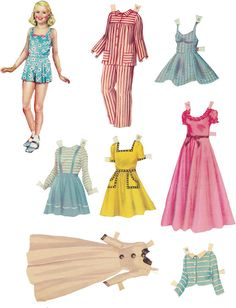 Paper Doll 13 — Vintage — Digital Collage Sheet by CacheCache