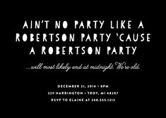 "Festive Affair Holiday Party Invitations Challenge: Make Me Laugh Award for the funniest party invitation - ""Ain't No Party"" by The Detroit Card Co. for Minted"
