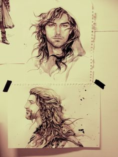 This makes me want to add drawings of Kili, Fili, and Thorin to my LOTR and the Hobbit drawing collection... Perhaps that will be my next project..