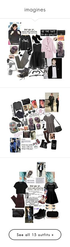 """imagines"" by clumsycinderella2992 on Polyvore featuring Topshop, Alice + Olivia, Diesel, Giuseppe Zanotti, Chanel, Casetify, The Case Factory, TIBI, American Apparel and Vans"