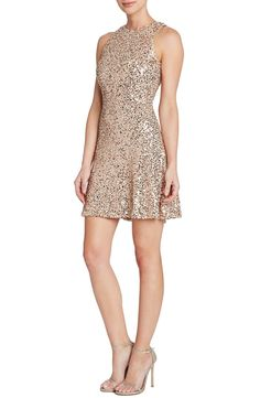 Dress the Population 'Mia' Sequin Cutaway Fit