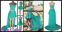 2 piece mint green and silver matric dance dress. Boobtube short dress with a beaded bodice. Tummy side openings and a lace up back. With a detachable back long train. With a silver bling belt. #mariselaveludo #fashion #matricdance #matricdress #passion4fashion #mintgreendress #2in1dress #promdress #eveningdress