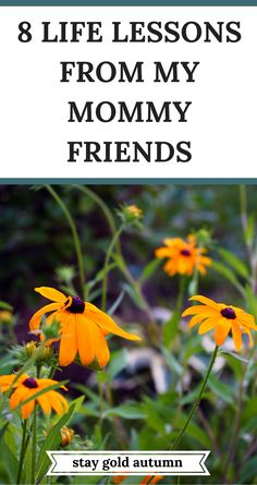I have been fortunate to be blessed with many friends who are Moms. These are 8 life lessons from my Mommy friends. | via Stay gold Autumn