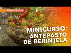 Minicurso de pastas e antepastos: antepasto de berinjela - YouTube Canapes, Finger Foods, Italian Recipes, Baked Potato, Herbalism, Oatmeal, Food And Drink, Appetizers, Low Carb