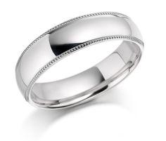 5mm Platinum Mens Wedding Band