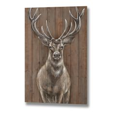 This Magnificent Stag has been hand painted onto a large wood panel.