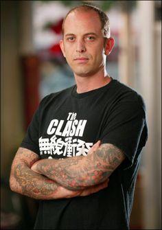 Artist Chris Garver & His ink Miami Ink Tattoos, Key Tattoos, Gypsy Tattoos, Tatoos, Monami Frost, Borneo, Filipino Tribal Tattoos, Arabic Tattoos, Chris Garver Tattoo