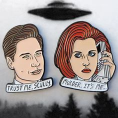 Mulder and Scully pin pack