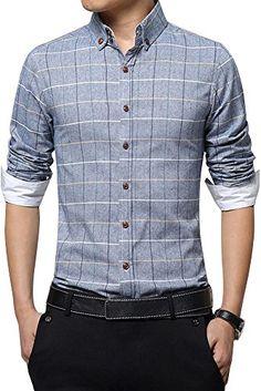 (シーファニー)Cfanny メンズ ワイシャツ 長袖 チェック柄 お洒落 スリム フィット ビジネス カジュアル…