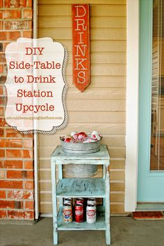 Cool Drinks With a DIY Drink Station