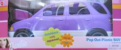 Barbie Pop Out Picnic SUV Vehicle  VAN Hatchback OPENS 2000 *** You can find out more details at the link of the image.