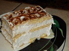 Ty nejjednodušší věci bývají většinou i těmi nejlepšími a tento famózní dort, který si v dnešním článku společně představíme, je toho jasným důkazem! Velmi jednoduchá příprava, kterou zvládne úplně… Brze Torte, Kolaci I Torte, Czech Recipes, Russian Recipes, Ethnic Recipes, How To Make Cake, No Bake Cake, Vanilla Cake, Cheesecake