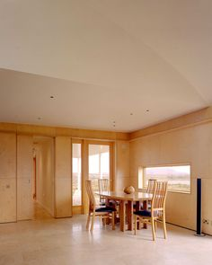 Modern Dining Room by Dublin Architects & Building Designers Dorman Architects Birchply - A solid weatherproof plywood Dining Area, Dining Room, Dining Table, Plywood Panels, Weekend House, Connemara, Dublin, Building, Architects