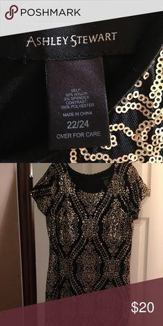 416fff69afc Ashley Stewart Party Dress Black and gold sequins Ashley Stewart Dresses Size  22 Dresses