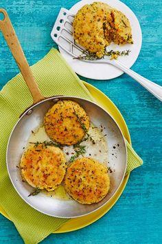 Couscous-Bratlinge mit Käse